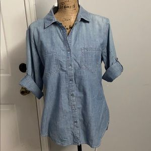 Anthropologie Hester & orchard chambray shirt LG